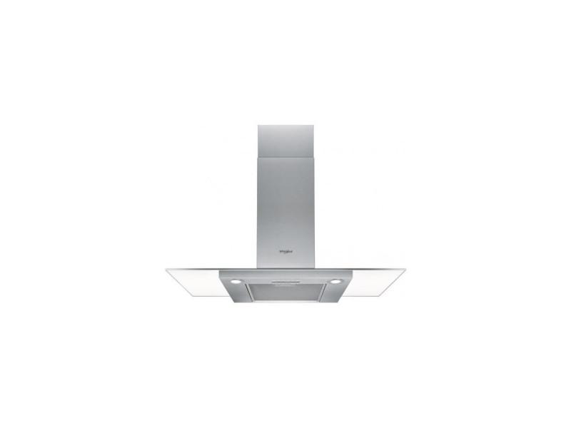Hotte, déco 100cm, ilot, inox+verre plat, aspiration min/max/b 105/432/ whirlpool - wifg103flex