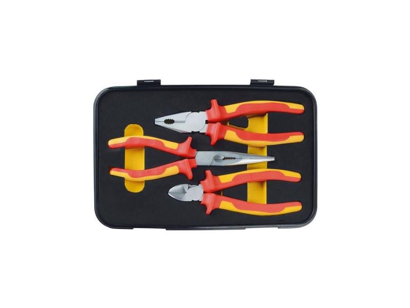 Jeu de 3 pinces d'électricien - jaune et rouge MAN4003315715238