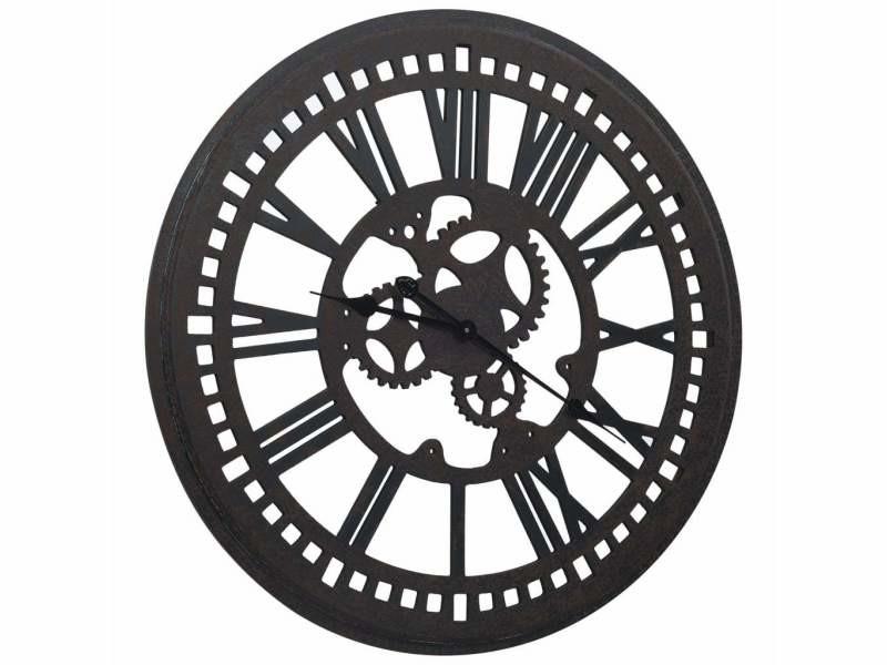 Horloge murale noir 80 cm mdf dec022234