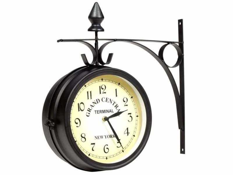 Horloge murale double face 20 cm dec022225
