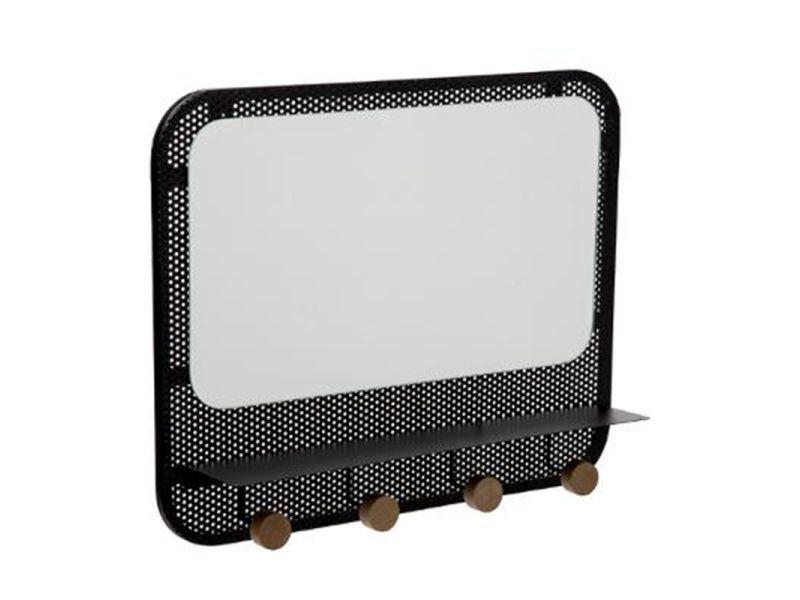 Patère & miroir en métal design \