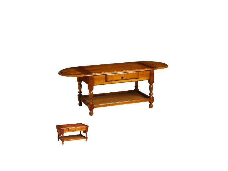 abattants style Table 1 tiroir massif en merisier basse 2 eCWBrdox