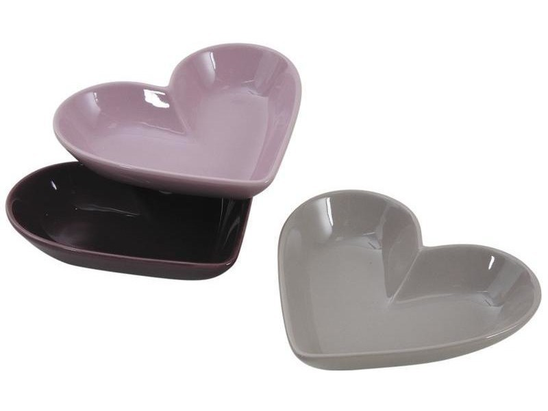 Aubry gaspard - ravier ramequin coeur en céramique (lot de 3)