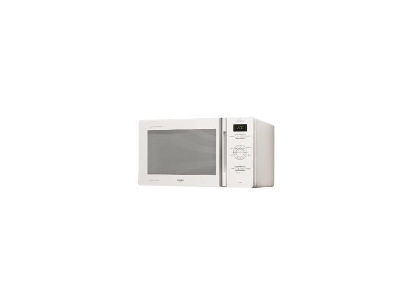 Whirlpool micro-ondes posable 800w avec grill , chef plus, blanc, 25 l, electronique, cavité peinte
