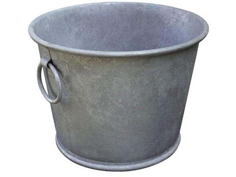 Jardinière en zinc patiné ultra résistante 28 litres