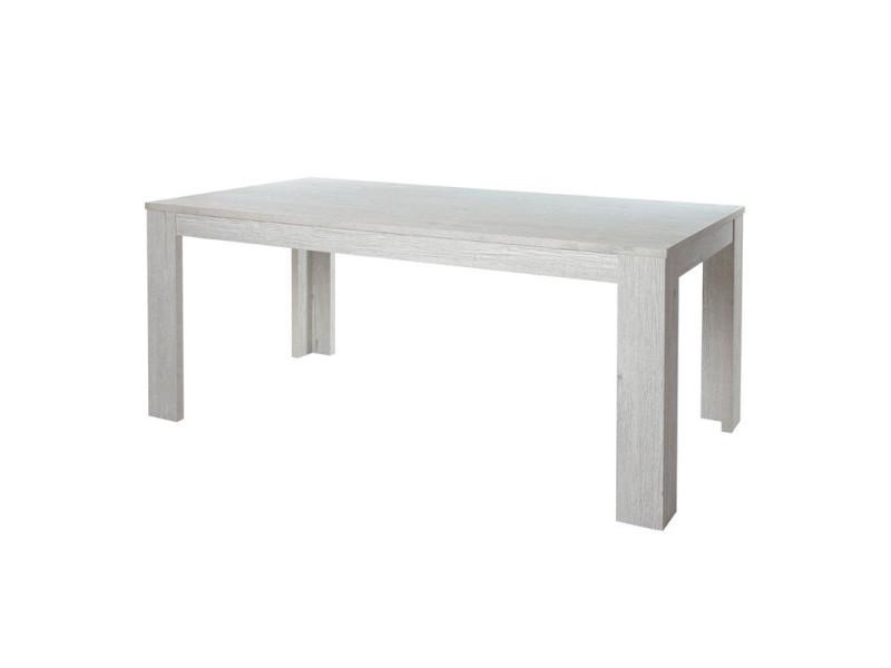 Table de repas rectangulaire 160 cm - kastor - l 160 x l 92 x h 75 - neuf