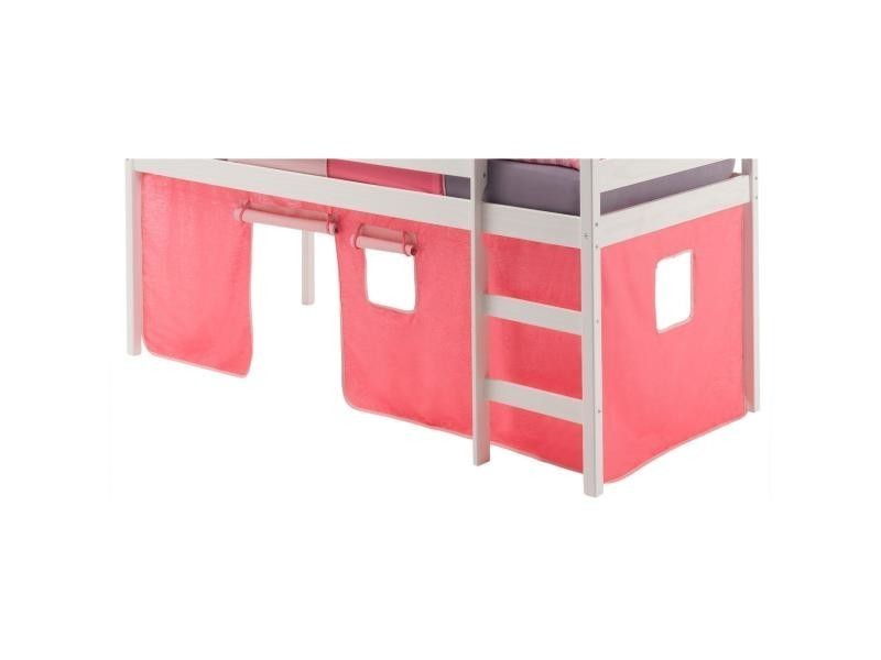 rideaux pour lit superpos ou lit sur lev coton rose vente de idimex conforama. Black Bedroom Furniture Sets. Home Design Ideas