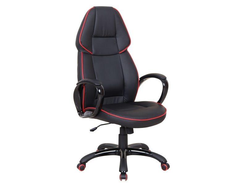 Fauteuil de bureau ergonomique noir et rouge design vente de