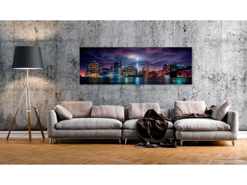 150x50 tableau new york villes inedit new york: dark city