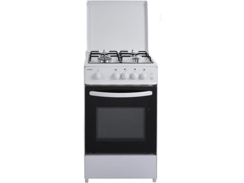Oceanic - etf156gscf lu2w - cuisiniere gaz - blanc - 50x50 - eclairage - grill electrique OCEA105WV2