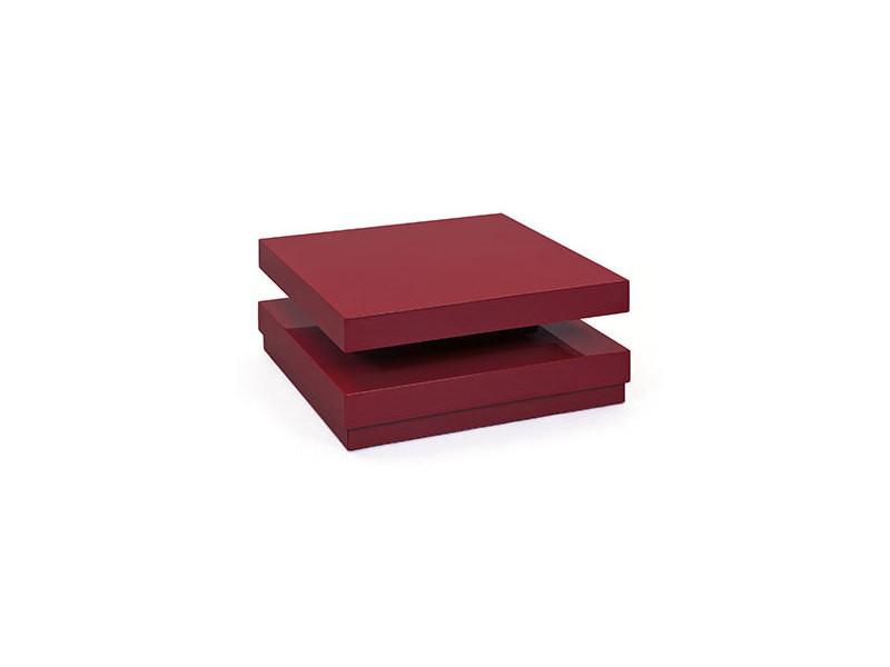 Table basse carré 75 cm pivotante blanc - turn