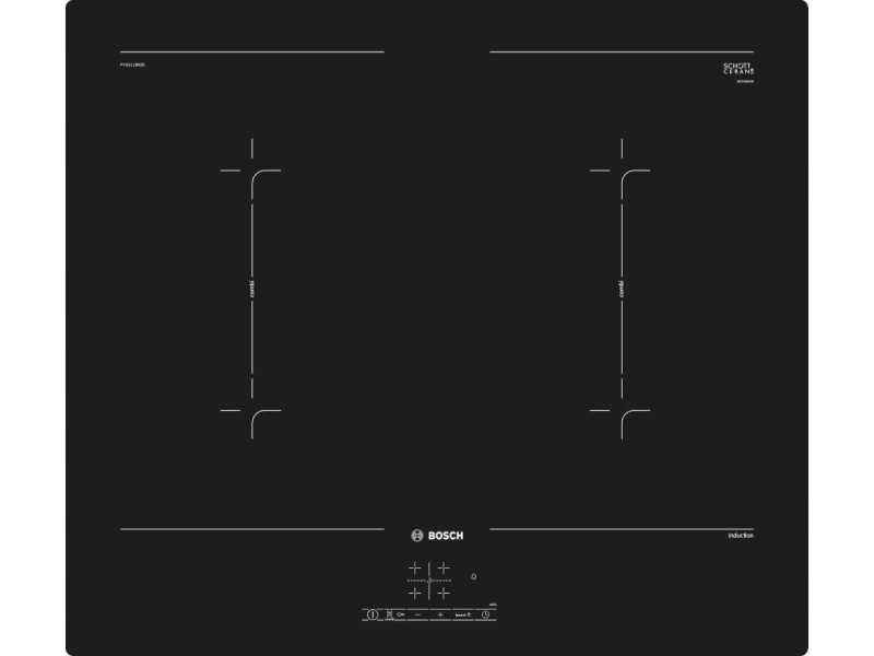Table de cuisson à induction 60cm 4 foyers 7400w noir - pvq611bb5e pvq611bb5e