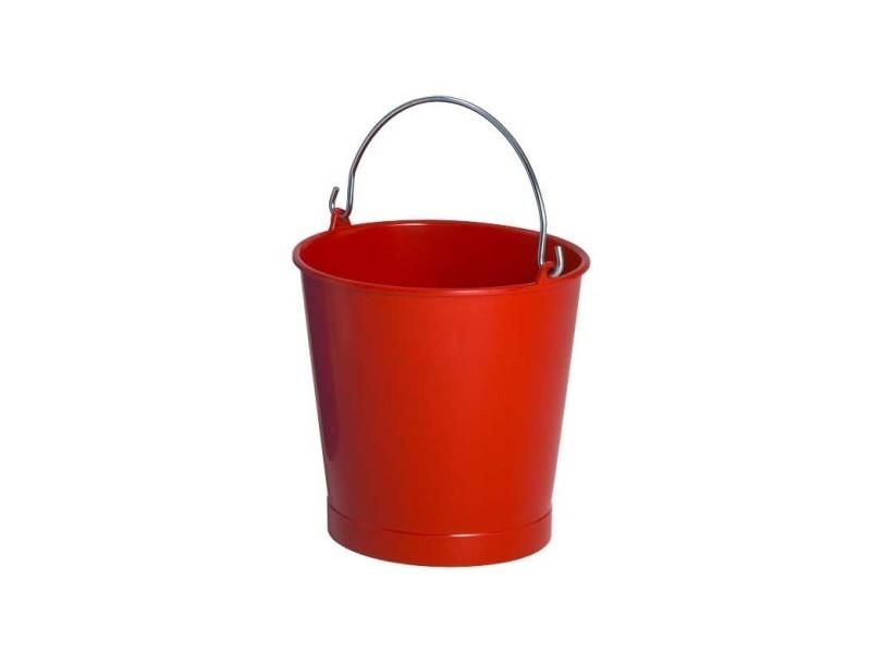 Seau 10 litres rouge anse inox - gilac