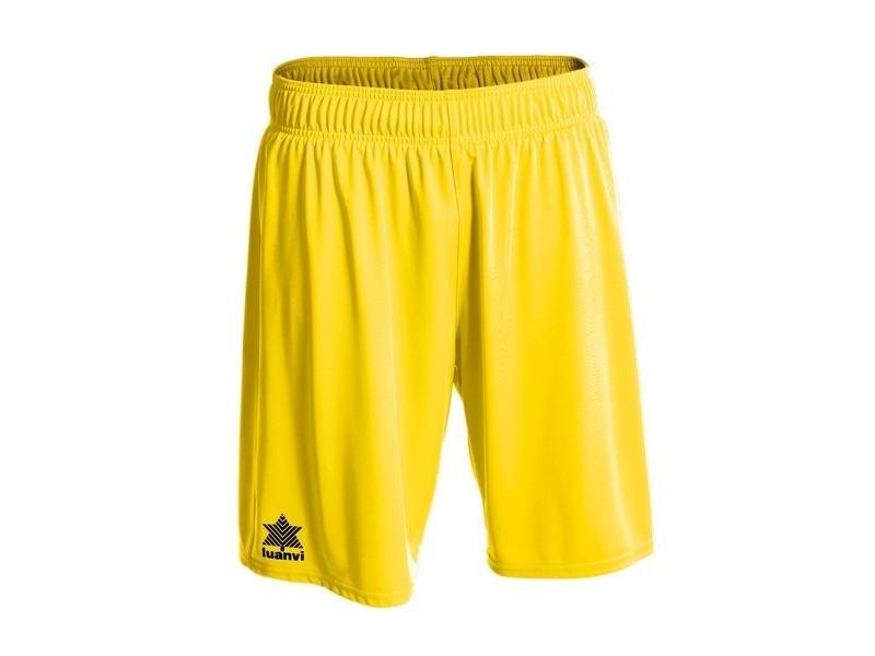 Pantalons de sport stylé taille 3xs short de sport luanvi pol jaune