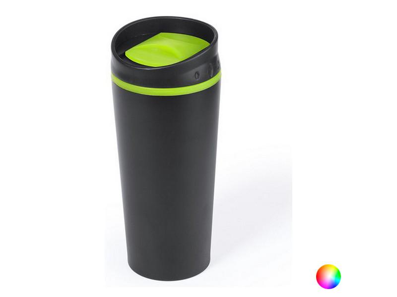 Tasses et thermos stylé couleur fuchsia verre en acier inoxydable (500 ml) 145340 noir