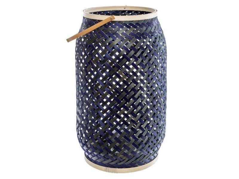 Lot de 3 lanternes bambou \