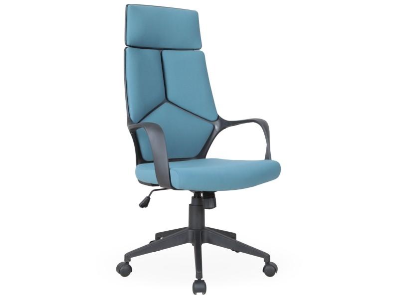 Chaise de bureau à roulette papel tissu bleu vente de menzzo