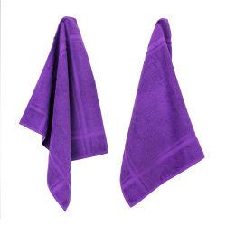Lot de 2 torchons de cuisine 50x50 cm éponge pure kitchen terry - violet