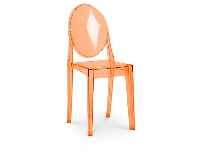 Chaise Ghost Philippe Starck Orange Transparent