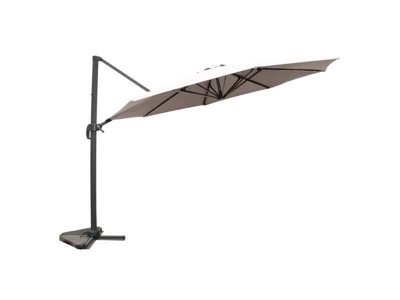 Vivaro écru : parasol déporté ,rond ø 350cm ,rotatif à 360° 1316