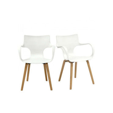 Lot de 2 chaises design rockwood - couleur - blanc PW-015-WHITE ...