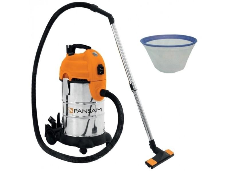 Dtools | aspirateur d'atelier eaux et poussières 1600w | pression 18kpa + cuve 30l | aspirateur chantier atelier - orange