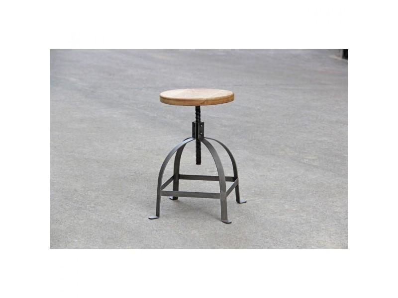 tabouret vis vintage henri ford couleur bois m tal ms 913w h45 stw vente de chaise de. Black Bedroom Furniture Sets. Home Design Ideas