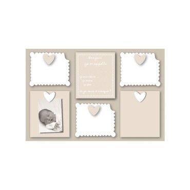 cadre d co photos de b b et sa famille vente de dimco cot d co conforama. Black Bedroom Furniture Sets. Home Design Ideas
