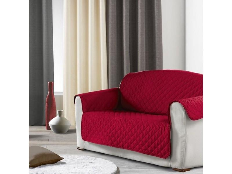 prot ge canap 2 places uni club rouge vente de doucceur d interieur conforama. Black Bedroom Furniture Sets. Home Design Ideas