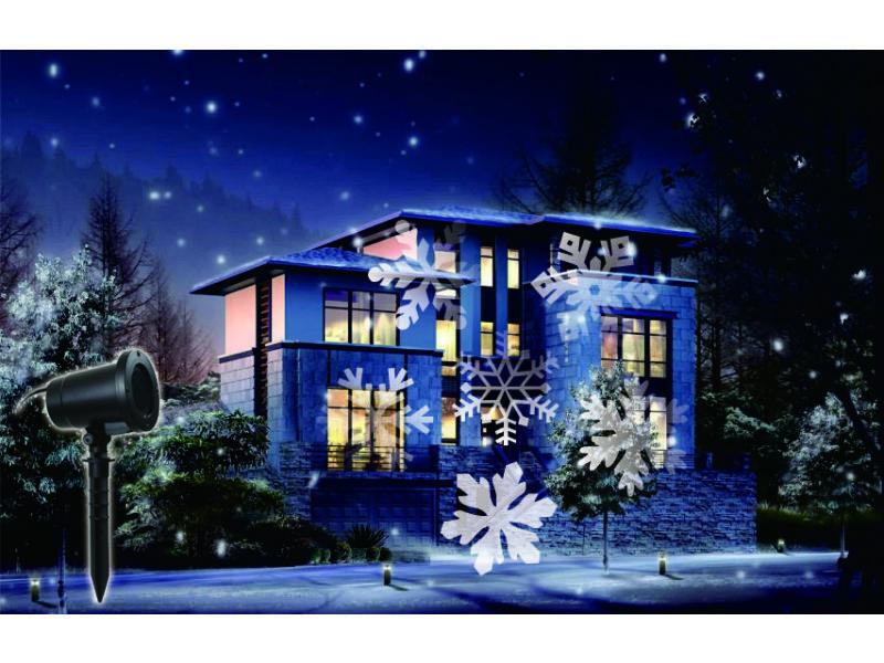 projecteur int rieur ext rieur led motif flocons conforama. Black Bedroom Furniture Sets. Home Design Ideas