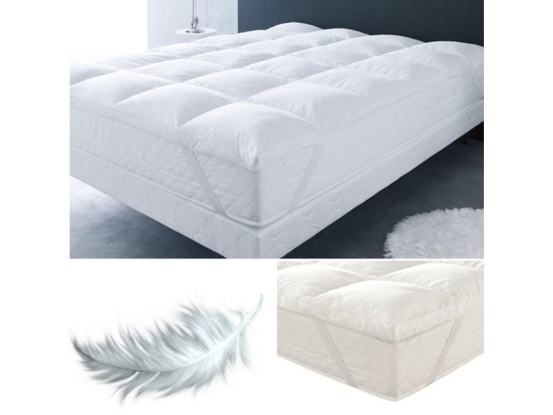 surmatelas plumes d 39 oie 140 x 190 cm anti acariens vente de id market conforama. Black Bedroom Furniture Sets. Home Design Ideas