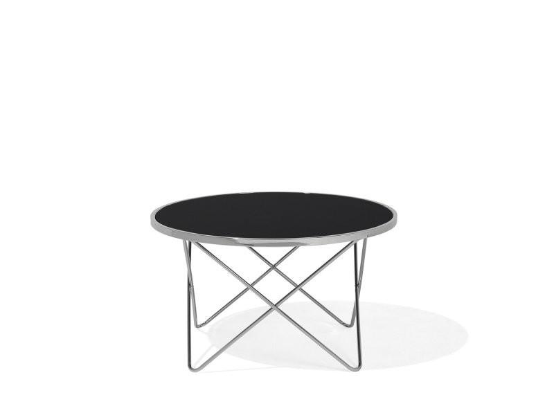 Table basse ronde noir/chrome meridian 99782