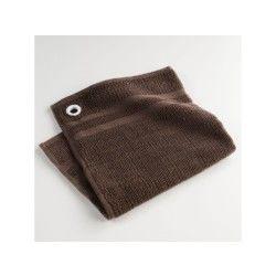 Torchon essuie-main éponge uni saveur chocolat 50 x 50 cm