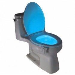 Pack de 3 eclairages led 8couleurs pour wc à détecteur de mouvement pour cuvette, siège wc, lavabo