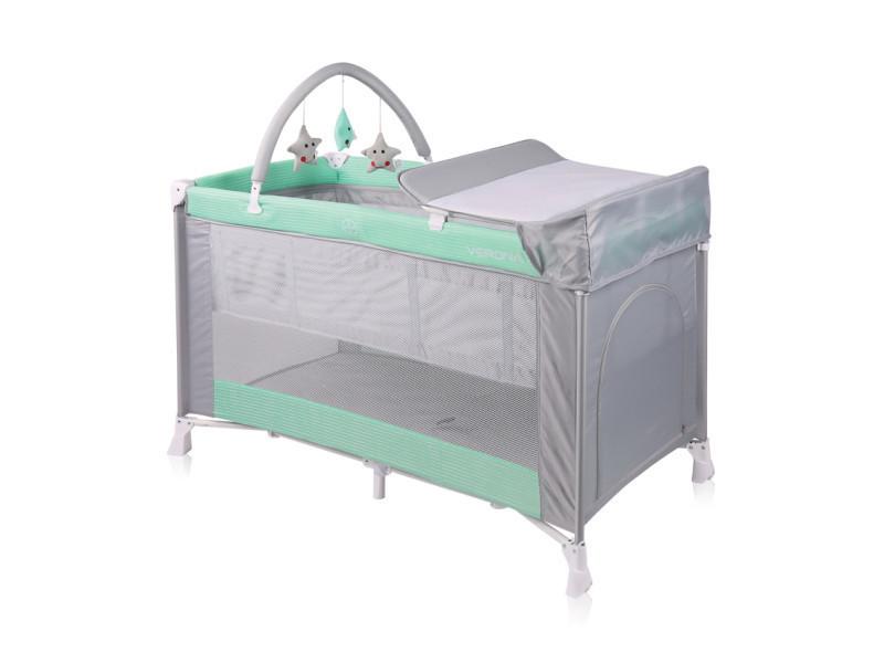 Lit parapluie bébé lit pliant à 2 niveaux verona 2 plus vert 10080271814 vente de lorelli conforama