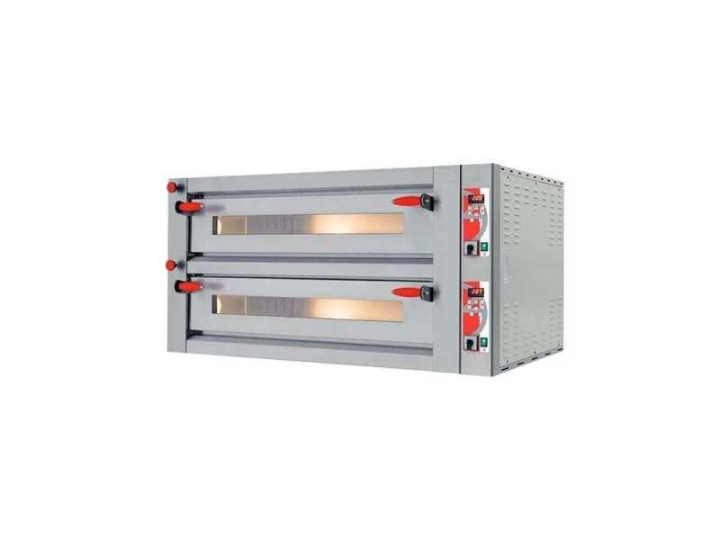 Four à pizza électrique double professionnel - digital 26,64 kw - pizzagroup -