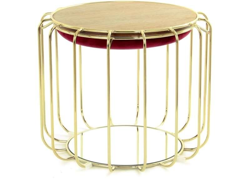 Pouf reverse table d'appoint confortable gold HKAPI