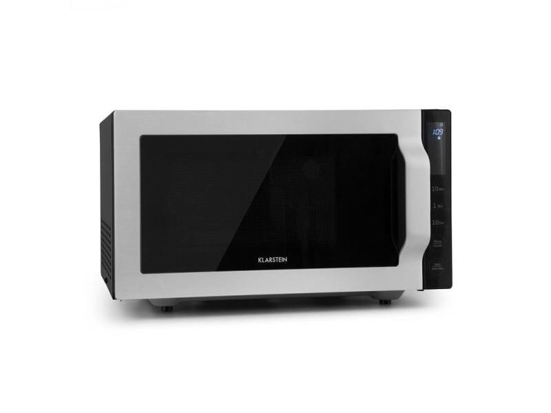 Klarstein brilliance roomy four micro-ondes 25l 900w/ grill 1000w - argent