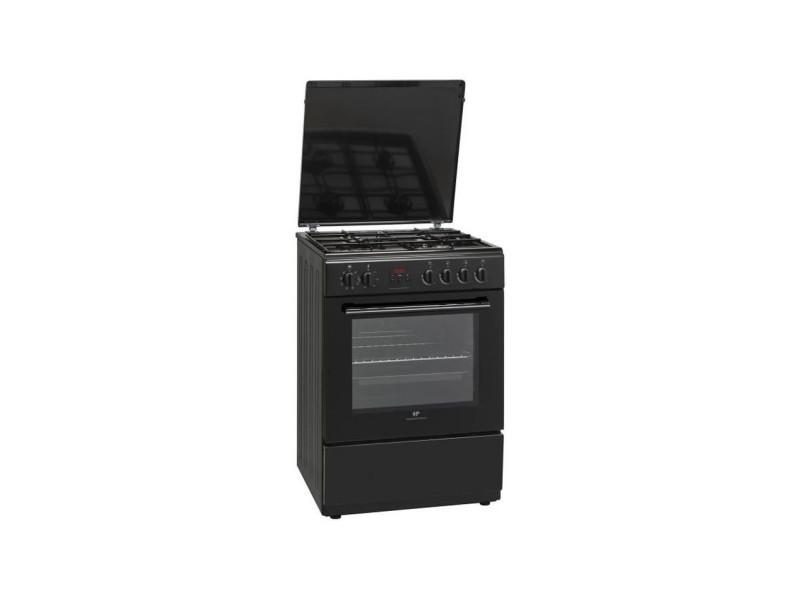 Continental edison - cecg6065fcb - cuisiniere mixte - 4 feux gaz - four electrique 65l - l60cm - noir