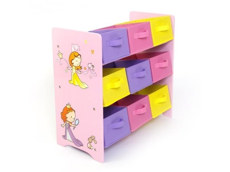 Meuble de rangement étagère jouet panier chambre enfant motif ...