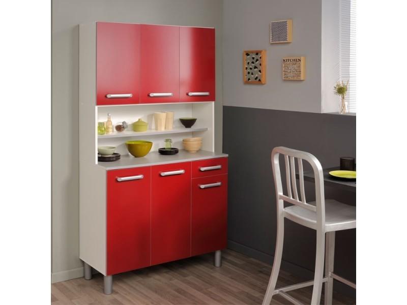 buffet de cuisine rouge brillant timy l 101 x l 40 x h 185 neuf vente de tousmesmeubles. Black Bedroom Furniture Sets. Home Design Ideas