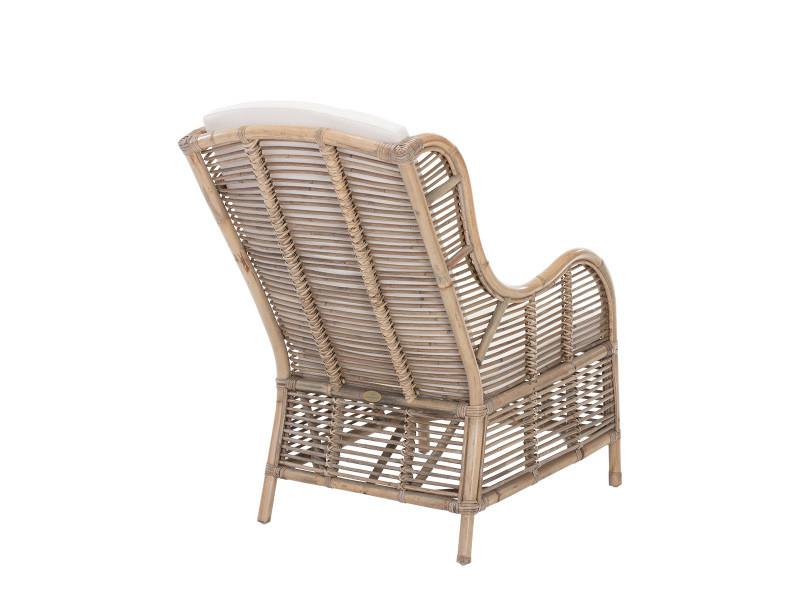 fauteuil en rotin et kubu brig rotin design conforama. Black Bedroom Furniture Sets. Home Design Ideas
