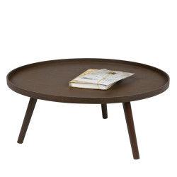 Table d'appoint ronde bois xl mesa - couleur - bois massif
