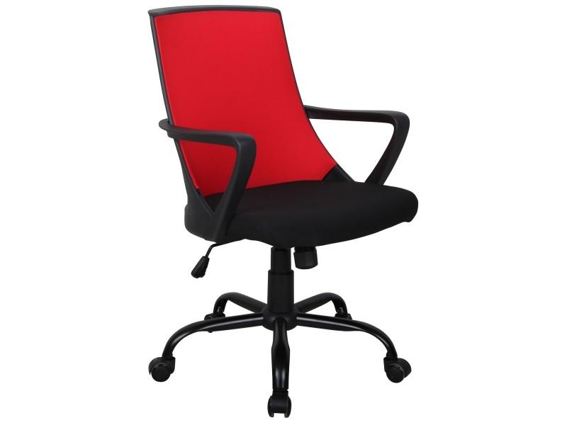 Chaise de bureau giny noir et rouge vente de fauteuil de bureau
