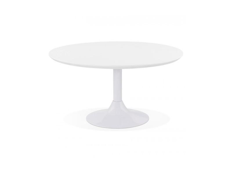 Table basse design bella white 90x90x45 cm