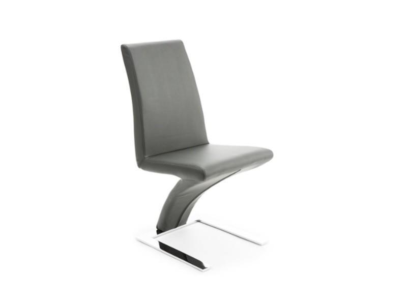 Chaise en écocuir grise - l:43 l:60 h:95 - baakal and ross
