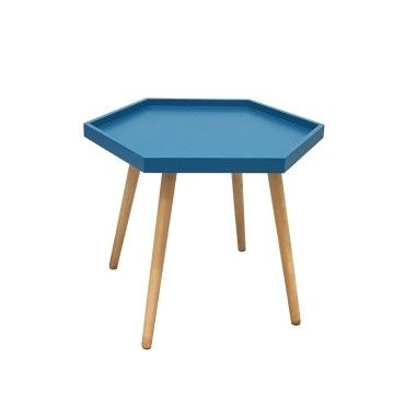 table basse hexa bleu canard vente de ego design conforama. Black Bedroom Furniture Sets. Home Design Ideas