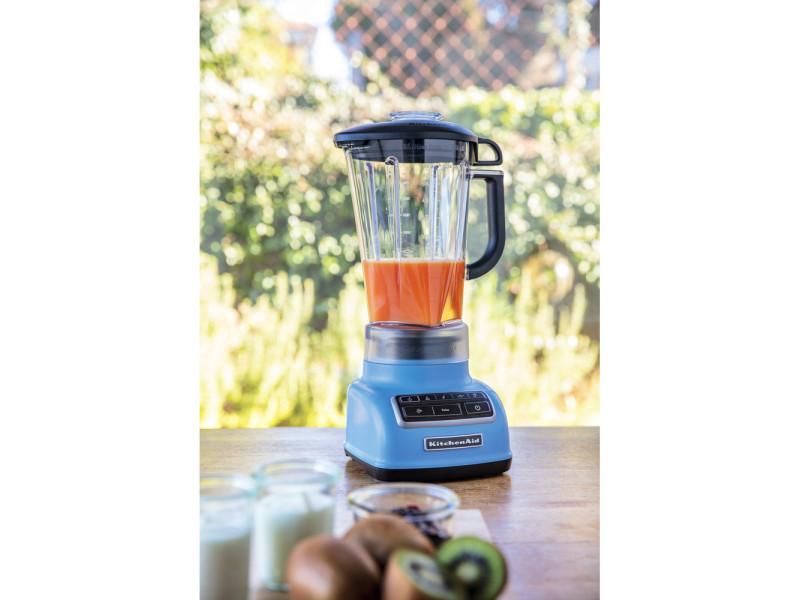 Blender mixeur électrique de 1,75l 550w velvet bleu gris