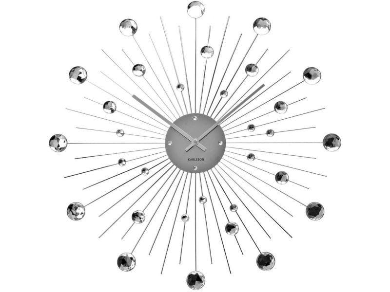Horloge ronde en métal sunburst 50 cm