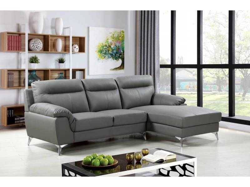 Canapé d'angle cuir reconstitué et pvc \